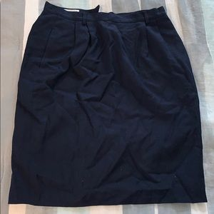 Vintage navy pencil skirt